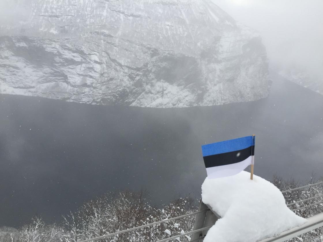 Eesti lipp Geirangeris