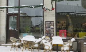 Välikohvikud on lume all