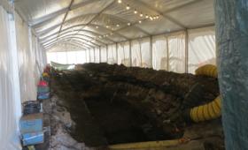 Arheoloogide telgi sisevaade Roosikrantsi tänaval