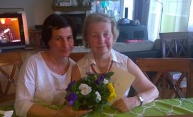 Ema Mare koos tütar Gerdiga emadepäeval 2015