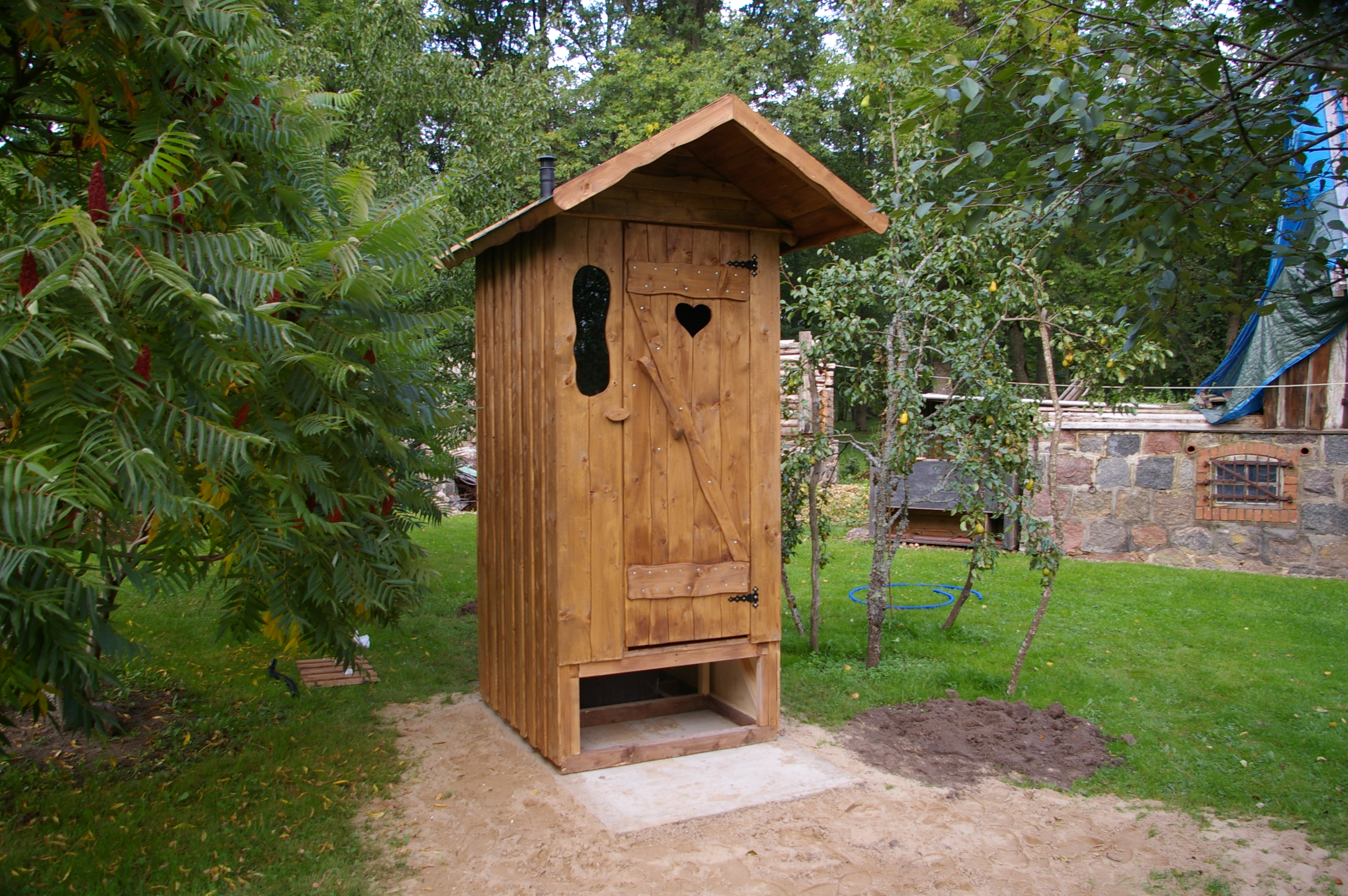 Туалет на даче своими руками от А 19